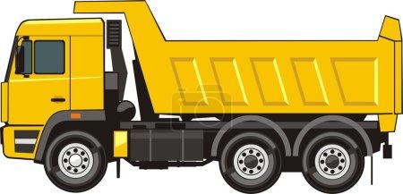 Dump truck of transportation of the soil...