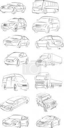 Vehicles outlines
