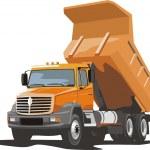 Building dump truck for loose material...