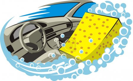 Photo for Cleaning the car interior - Royalty Free Image