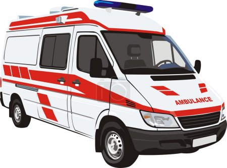 Illustration for Fast medical help car - Royalty Free Image