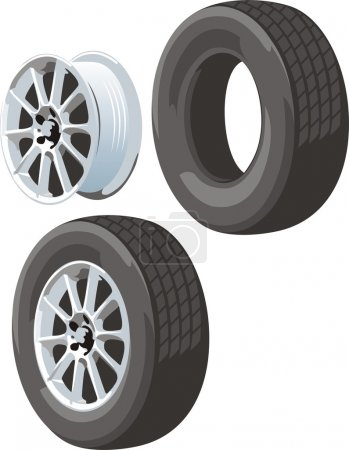 Wheel disk and tire