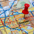Denver map with push pin...