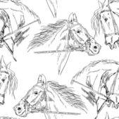 Seamless background, Black horse