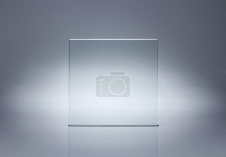 leere Glasplatte mit Kopierraum