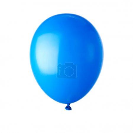 Photo pour Ballon de fête bleu dans les airs - image libre de droit