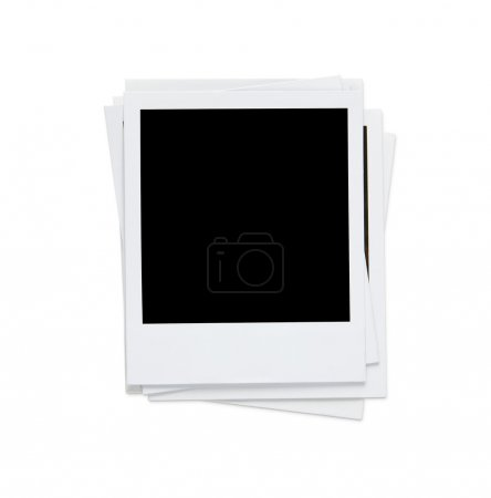 Stack of blank photos