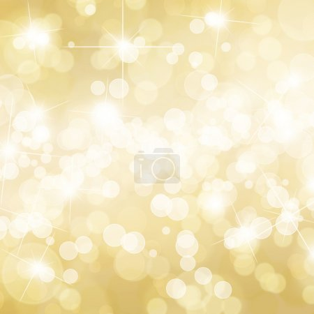 Gold defocused lights background