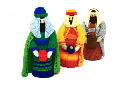 Nativity scene, the 3 wise men or kings bearing gifts,