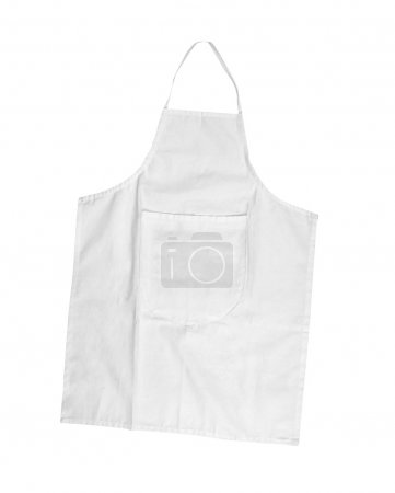 Photo for White female apron with outsets isolated on white - Royalty Free Image