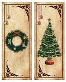 étiquettes de Noël ou de cartes postales