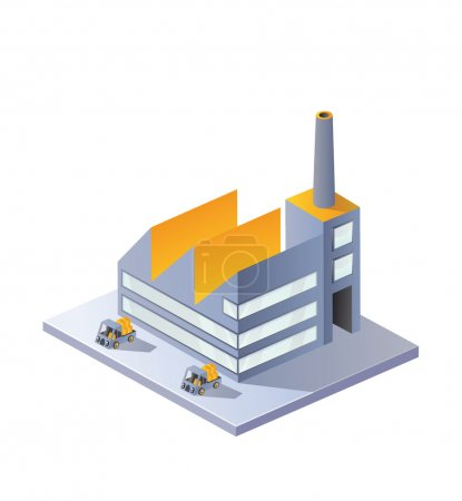Illustration for Image factory in isometric projection on a white background - Royalty Free Image