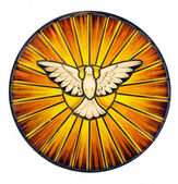 Duch svatý barevné sklo