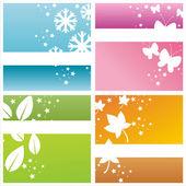 Colorful seasonal backgrounds