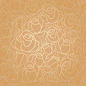 Seamless roses pattern gold