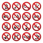 Set ban icons Prohibited signs Nature symbols...