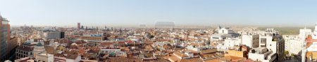 Panoramic photo of old part of Madrid, Capitol of Spain. View fr