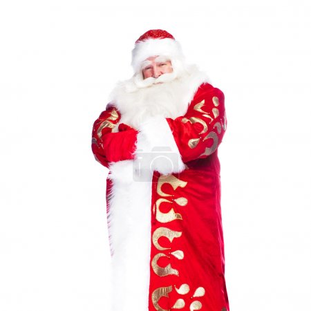 Photo for Santa Claus portrait smiling isolated over a white background - Royalty Free Image