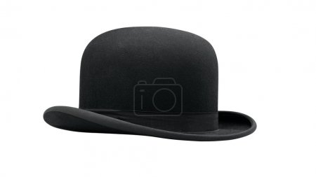Photo for A bowler hat isolated on a white background - Royalty Free Image