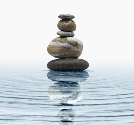 Photo for Zen stones in water - Royalty Free Image