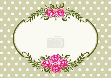 Vintage roses green frame