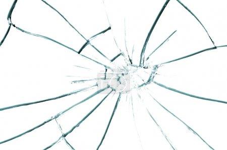 Photo pour Texture de verre cassé gros plan - image libre de droit
