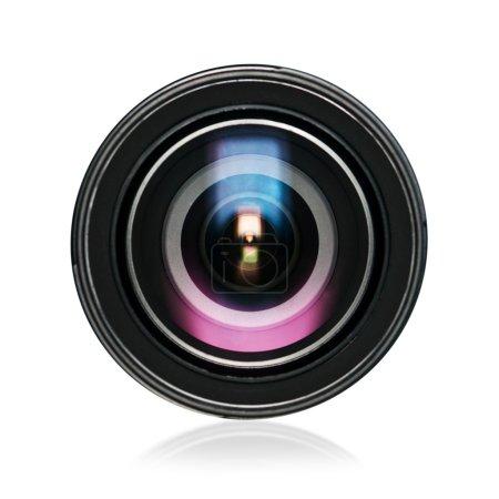 Photo pour Objectif de la caméra numérique isolé sur blanc - image libre de droit