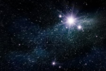 Photo for Abstract space and star background - Royalty Free Image