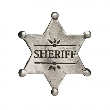 Photo pour Étoile de shérif isolé sur blanc - image libre de droit