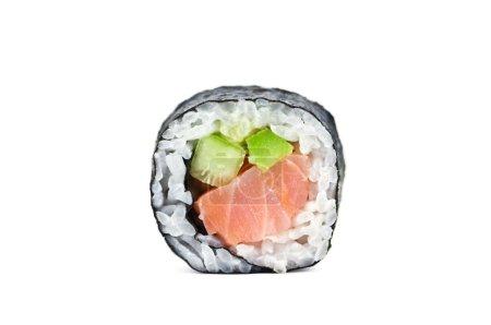 Photo pour Rouleau de sushi isolé sur blanc - image libre de droit