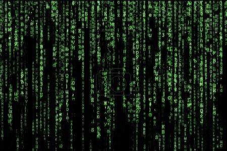 Photo pour Ordinateur de fond de matrice verte généré - image libre de droit