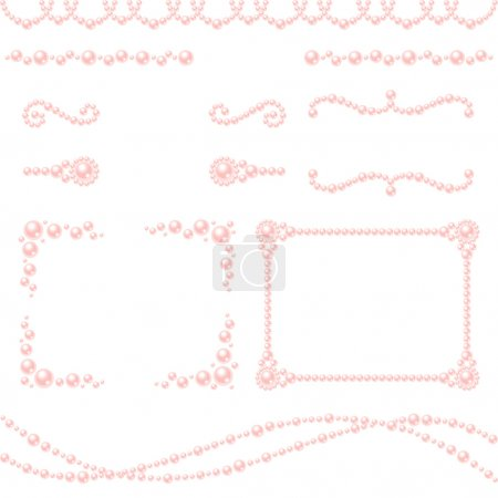 Pink pearl decoration