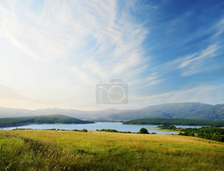 Photo for Field on sunset - Royalty Free Image