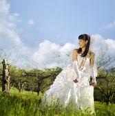 Bride on nature