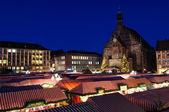 Christkindlesmarkt (vánoční trhy) v Norimberku, Německo