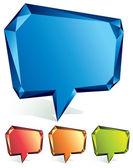 Crystal speech bubble