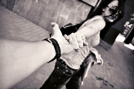 Photo for Love of man and woman: two hands - Royalty Free Image