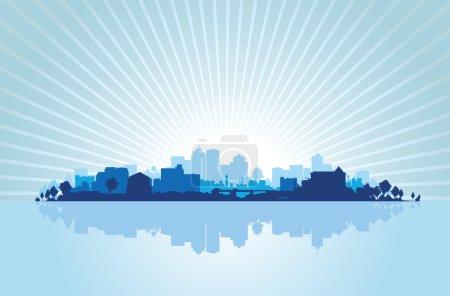 Illustration for Cityscape background - Royalty Free Image