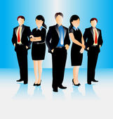 Colorful illustration of young attractive business