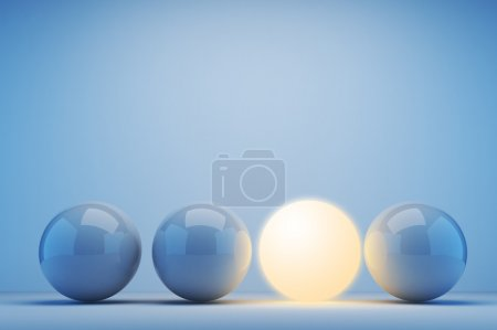 Photo for Luminous sphere. Innovation concept. 3d illustration - Royalty Free Image
