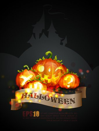 Halloween Poster | Objects Separated on layers named accordingly