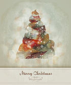 Vintage Greeting with Abstract Christmas Tree| EPS10 Graphic | Separate Layers Named Accordingly