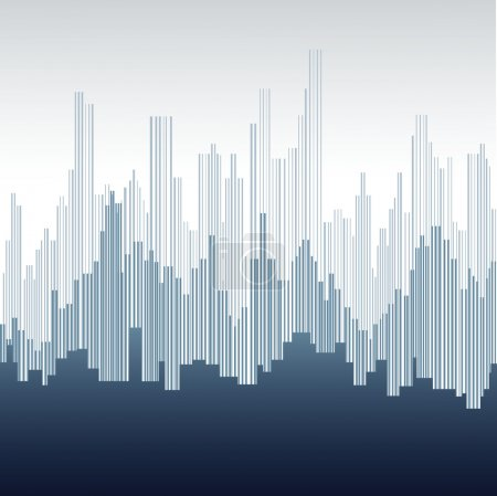 Photo for Abstract city landscape - Royalty Free Image