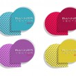 Abstract multicolor vector banners with round corn...