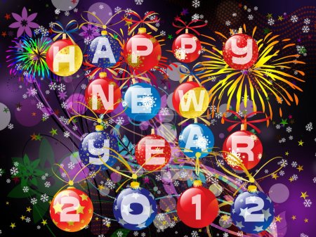 Happy New Year 2012 illustration
