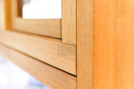 Detail for wooden window