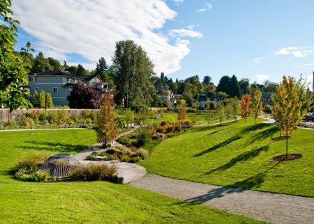 Photo pour Parc de quartier à Seattle - image libre de droit
