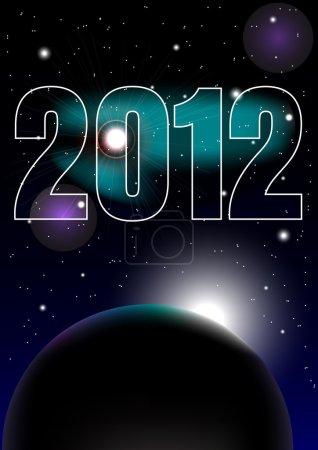 New Year Celebration 2012 Background