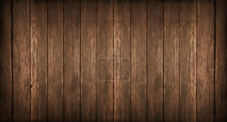 Photo for Old, grunge wood panels used as background - Royalty Free Image