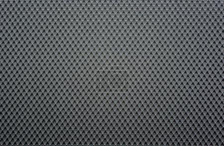 Photo pour Motif textile abstrait fond noir et argent . - image libre de droit